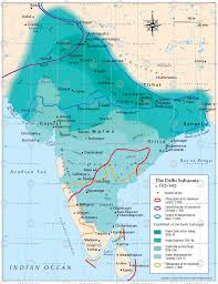 Bay Of Bengal Map The Delhi Sultanate C 1100 U20131400
