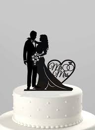 wedding cake toppers and groom wedding cake topper silhouette and groom with mr