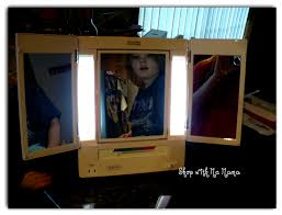 jerdon tri fold lighted mirror review shop with me mama