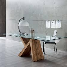 italian extendable dining table dining table d2177dt chagne glass top by global furniture idolza