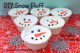 christmas table favors to make winter party favors diy snow dough inspired by family