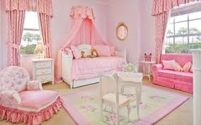 Canopy Bed Curtains For Girls Bedroom Kid Furniturse Set And Armchair With Area Rug Also Daybed