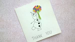 easy diy thank you cards olaf snow card quilling card