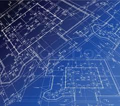 housing blueprints house plan vector blueprint stock vector colourbox