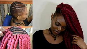 half shaved with braids flawless havana twist w shaved sides crochet braids youtube