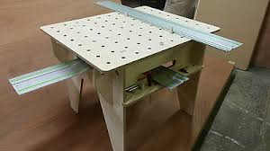 portable track saw table festool track saw portable workbench router table in birch plywood