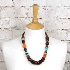 manuhiki nursing teething necklace uk dark wood by mama jewels