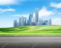 Modern City Asphalt Road And Modern City U2014 Stock Photo Iakov 39069289