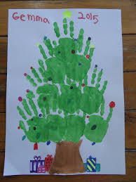 christmas craft hand u0026 feet painting be a fun mum