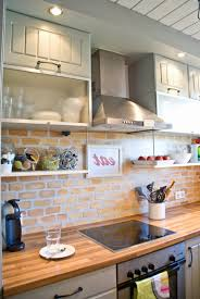 kitchen brick backsplash kitchen remodelaholic tiny kitchen renovation with faux painted