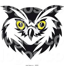 clipart owl black and white owl head clipart free collection