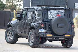silver jeep rubicon 2 door 2018 jeep wrangler two door spotted for the first time autoguide