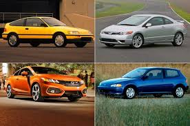 honda civic best year honda civic si through the years history of the front drive sport