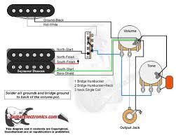 1 humbucker 1 single coil 3 way lever switch 1 volume 1 tone 00