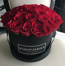 3 dozen roses signature 3 dozen in black box maison farola detroit