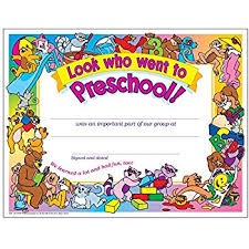 preschool certificates preschool diploma certificate set of 30 blank