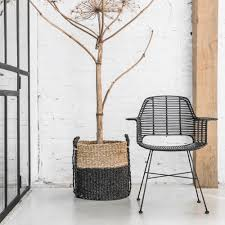 scandi style rattan tub dining chair in black dining chairs cuckoo