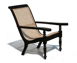 capri teak u0026 rattan colonial plantation chair with swing out arms