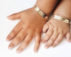 customized baby jewelry bar bracelet etsy