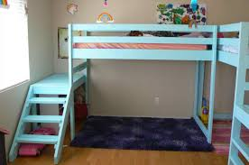5 year old girlu0027s bedroom complete with a loft bed from want