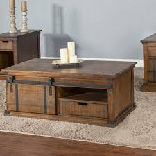 barn door side table gracie oaks persil barn door coffee table wayfair