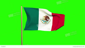 Mexico Flag Symbol Mexico Flag Waving In The Wind Green Screen Alpha Matte