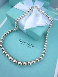 silver beads necklace tiffany images Silver ball necklace tiffany necklaces pendants jpg