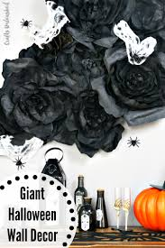 diy halloween wall decorations spooky flowers consumer crafts