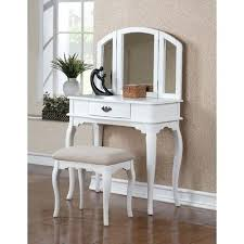 Home Depot Vanity Table Vanities Frenchi Home Furnishing 3 Piece White Vanity Set H 7 Wh