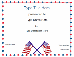 flag certificate template
