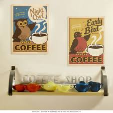 day u0026 night coffee set of 2 metal signs cafe tin signs