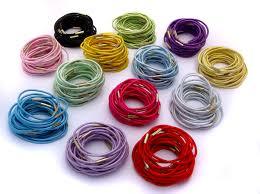 hair elastic 2mm shiny hair elastic ties with metal join 2he 2 00