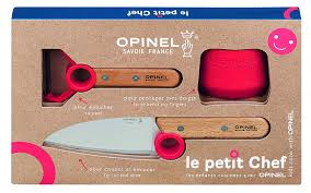 amazon com opinel le petit chef set guard knife and peeler