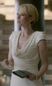 hairstyles of margaux on revenge margaux s white cowl neck dress on revenge outfit details http