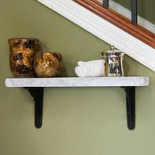 Wooden Wall Shelves With Brackets Bathroom Wall Shelf Signature Hardware