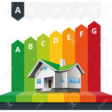 house energy efficiency simple infographic vector illustration of house energy efficiency
