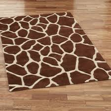 Blue Animal Print Rug Giraffe Area Rug Rugs Decoration