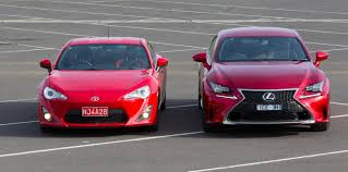 lexus rc f vs mustang gt which to choose toyota 86 vs lexus rc350 practical motoring