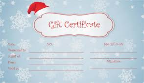 crystals christmas gift certificate template