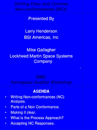 Agenda Meeting Pdf Lockheed Martin by Breakout Ncr Writing And Closure Pdf Audit Business