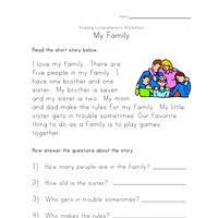 reading comprehension worksheets all kids network