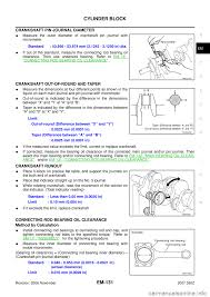 nissan 350z 2007 z33 engine mechanical workshop manual