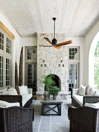 Outdoor Patio Ceiling Ideas by Outdoor Patio Slate Floor Whitewashed Tongue And Groove Ceiling