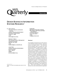 B Om El Design Design Science In Information Systems Research Pdf Download