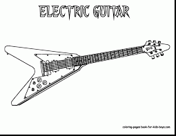 remarkable electric guitar coloring pages with guitar coloring