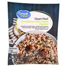Mediterranean Style Food - great value mediterranean style falafel steam bag meal