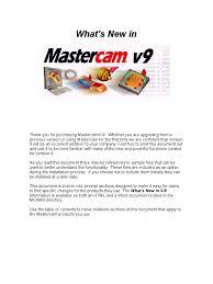 mastercam 9 machine tool computer aided design