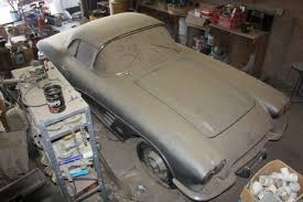 1961 corvette project for sale epic barn find 1961 corvette parked since 1968