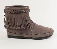 minnetonka womens boots size 11 high top back zip boot minnetonka moccasin