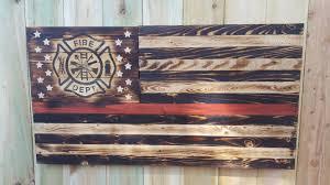 wooden maltese cross thin line wood flag thin line firefighter maltese